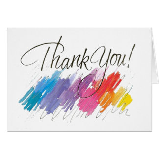 Modern Watercolor Thank you Notes