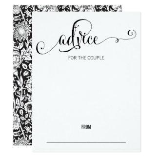 Modern We Do Script Wedding Advice Card