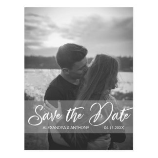 Modern Wedding Engagement SAVE THE DATE | PHOTO Postcard