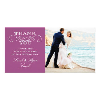 Modern  Wedding Photo Thank You Cards