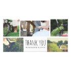 Modern Wedding Thank You Five Photo Collage Card