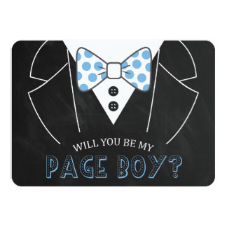 MODERN WILL YOU BE MY PAGE BOY | GROOMSMAN 11 CM X 16 CM INVITATION CARD