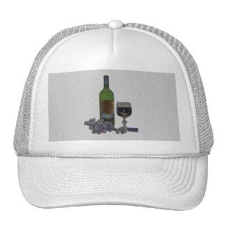 Modern wind and grapes digital art cap trucker hats
