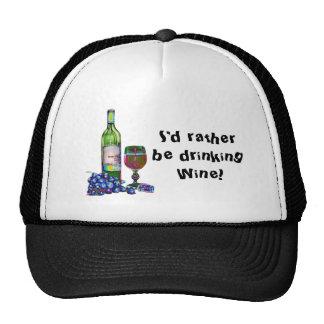 Modern Wine and Grapes Art Trucker Hats