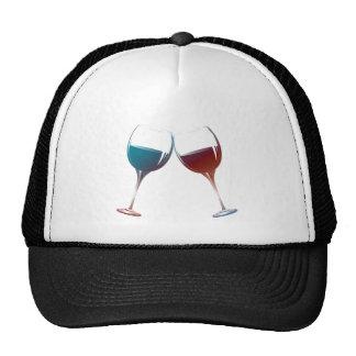 Modern Wine glasses art Trucker Hat