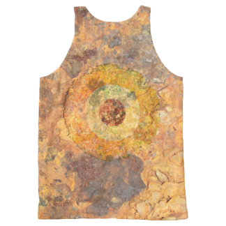 Modernist Grunge All-Over Print Singlet