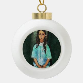 Modigliani Alice Vintage Fine Art Painting Ceramic Ball Decoration