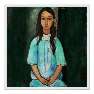 Modigliani Alice Vintage Fine Art Painting Perfect Poster