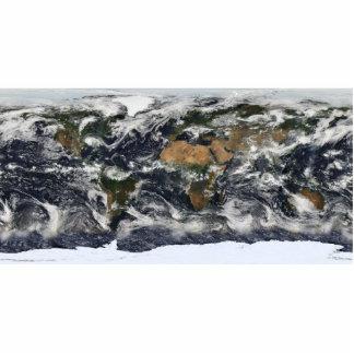 MODIS World Map Photo Cutouts