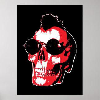 Mohawk Skull - Rock'n'Roll Poster