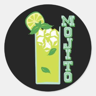 Mojito Classic Round Sticker