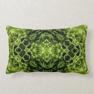 Moldavite II gemstone fractal art pillow