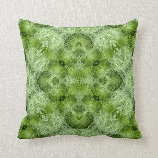 Moldavite V gemstone fractal art pillow