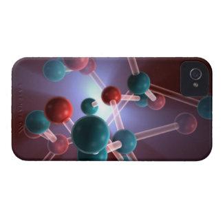 Molecular Structure of Caffeine. iPhone 4 Case