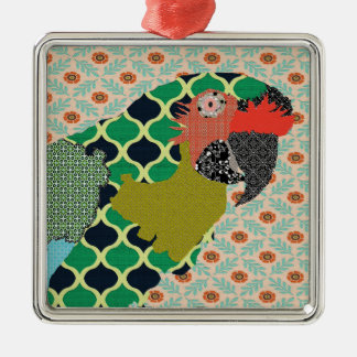 Molly Macaw Merry Christmas Ornament