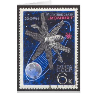 Molniya Communications Satellite Card