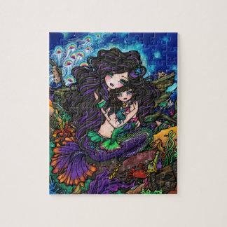 Mom & Baby Mermaid Fantasy Marine Art Puzzle