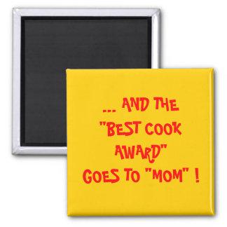 MOM - BEST COOK AWARD SQUARE MAGNET