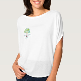 Mom Body Spirit Flowing Short-Sleeve Top