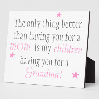 Mom Display Plaque