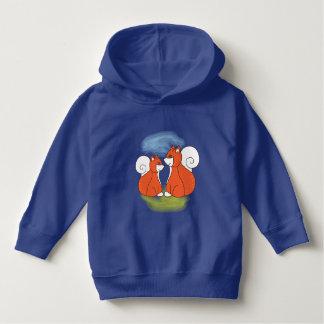 Mom fox with baby fox hoodie
