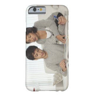 mom helping son with homework barely there iPhone 6 case