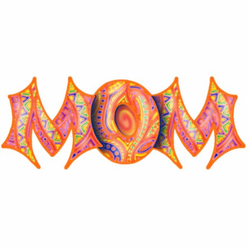 MOM Key Chain, Pin, Sculpture, Ornament, or Magnet Photo Cut Outs