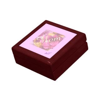 Mom Soft Flowers Small Trinket Box