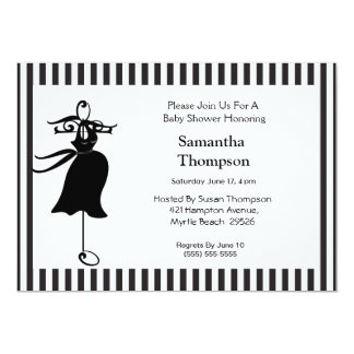 Mom to Be  Silhouette Baby Shower Invitation