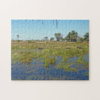 Mombo Island with Buffalo Jigsaw Puzzle