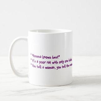 Momma say...? basic white mug