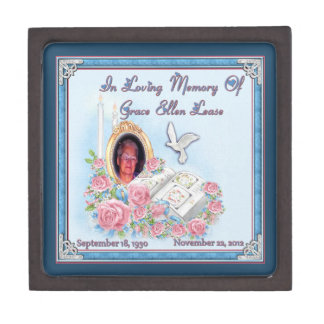 MomMom Lease Memorial Gift Boxes In Loving Memory Premium Jewelry Boxes