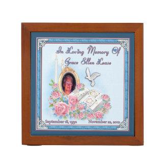 MomMom PopPop Lease Memorial Desk Organizer 2sided Desk Organisers