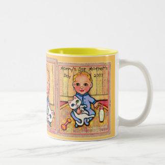 Mommy s 1st Mothers Day 2007 Boy Theme Mug