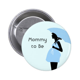 """""""Mommy to Be"""" Baby Shower Button [Blue]"""