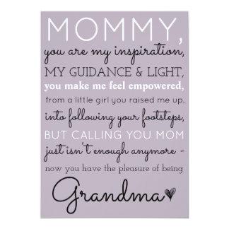 Mommy To Grandma Cute Pregnancy Announcement