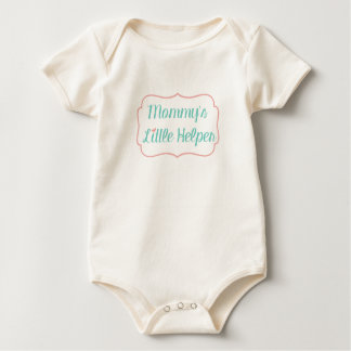 Mommy's Little Helper- Coral & Teal Baby Bodysuit