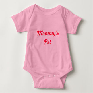 Mommy's Pet Cute Adorable Pink Red Unique Baby Bodysuit