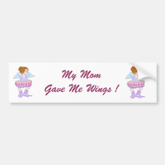 Mom's Wings Bumper Sticker