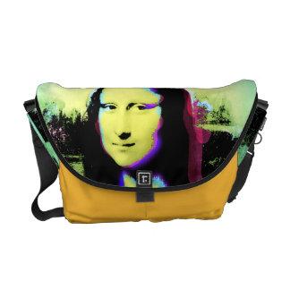 Mona Lisa Colorful POP ART Messenger Bag