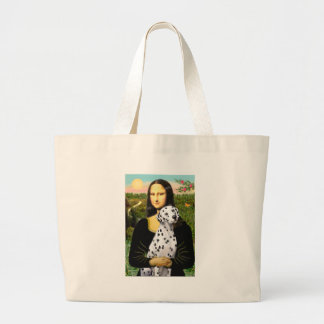 Mona Lisa - Dalmatian Large Tote Bag