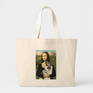 Mona Lisa - German Shepherd 9 Large Tote Bag
