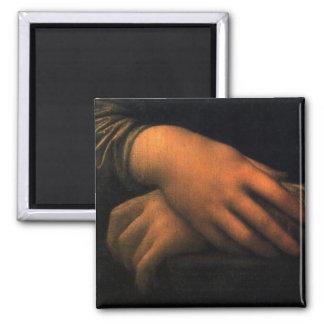 Mona Lisa - hands Refrigerator Magnet