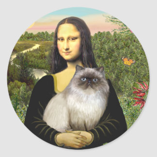 Mona Lisa - Himalayan cat 7 Classic Round Sticker