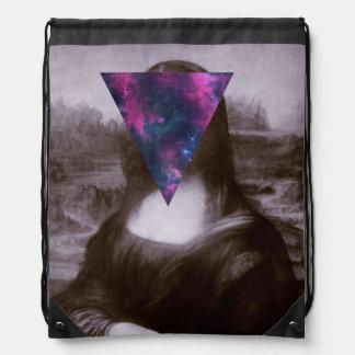Mona lisa hipster drawstring bag