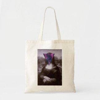 Mona lisa hipster. tote bag