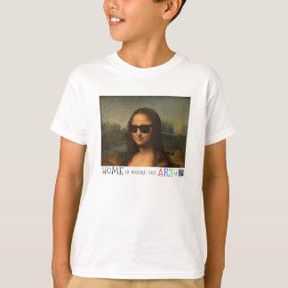 Mona Lisa Home ice where the articles ice T-shirt