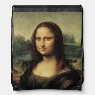 Mona Lisa La Gioconda by Leonardo da Vinci Drawstring Bag