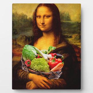 Mona Lisa Loves Vegetables Plaque
