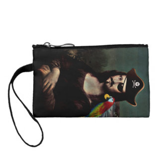 Mona Lisa Pirate Captain With Mustache Coin Purse